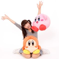 """Transform your home into its own Dream Land by inviting some of its lively inhabitants over with these balloons from the Kirby series!  Made possible by SK Japan, hero Kirby and casual resident Waddle Dee are large and in-charge at 13.8"""". Choose between them, or if you'd rather have a house party, get the set of both - they'll brighten up your space without all the troubles they have back home~  #tokyootakumode #plushie"""