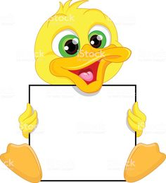 Cute baby duck cartoon and blank sign royalty-free cute baby duck cartoon and blank sign stock vector art & more images of agriculture Art Drawings For Kids, Cute Drawings, Art For Kids, Boarder Designs, Page Borders Design, Cartoon Cartoon, Flashcards For Kids, Blank Sign, Powerpoint Background Design