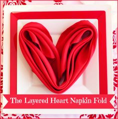 DIY Valentines Day Romantic heart shaped Polyester Napkin Folding Tutorial Blog Smarty Had A Party Elegant Disposable Plastic Dinnerware