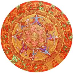 Explore Seema Kohli's artwork at Emami Art Gallery. Medium: Mix Media on Canvas with 24 kt Gold and Silver Leaf Size: 36 inches diameter Year: 2015 #artlovers #painting #art #artinspire #buyart #artcompetitions #ArtInTheCommunity #artmarketing #artistpromotion #artists #loveforart