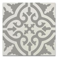 Moroccan Mosaic Tile House Argana 8 x 8 Handmade Cement Tile in Gray and White Galaxy Slime, French Country Kitchens, French Country Decorating, Country Bathrooms, Dream Bathrooms, Mosaic Tiles, Wall Tiles, Cement Tiles, Tile Murals