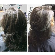 transition to grey hair with highlights - Google Search