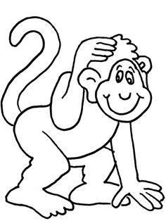 monkey coloring page disney coloring page - Monkey Coloring Page