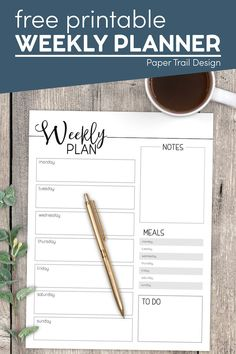 Print this weekly planner printable for free and make yourself a custom planner or just use the weekly planner to stay on top of your week. Weekly Planner Template, Printable Planner Pages, Printable Crafts, Templates Printable Free, Free Printables, Custom Planner, Teacher Worksheets, Paper Trail, School Resources