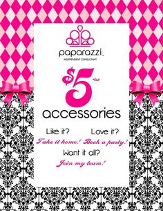 Here is my brand new side business ladies!! Paparazzi Accessories everything is $5.00 Cash & Carry.