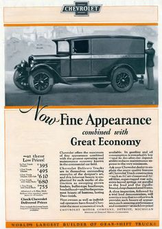 1927 Chevrolet Truck Ad
