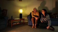 Nora Pasfield 84 (left) and Annabelle McClean 23 (right) at Nora's home in Manly. Both agree with the home share ...