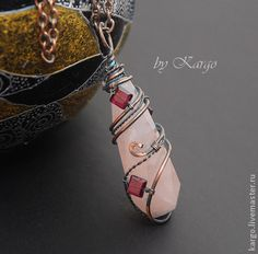 Wire wrapped with crystals. LOVE this!!!