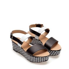 BRAIDED PLATFORM SANDALS - Wedges - Shoes - Woman   ZARA France