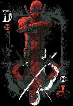 The aces are wild with the Deadpool 'Ace of Wades' T-Shirt, with Wade Wilson offering you a choice between guns or swords. Comic Book Characters, Marvel Characters, Comic Character, Comic Books Art, Comic Art, Hq Marvel, Marvel Dc Comics, Marvel Heroes, Deadpool Art