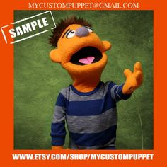 """Custom pro puppet makers """" muppet type """" Portrait Puppet pro puppet From Your Design , photo or Ours! Professional Puppets, Custom Puppets, Puppet Making, Can Design, Tigger, Are You The One, Type, Disney Characters, Handmade Gifts"""
