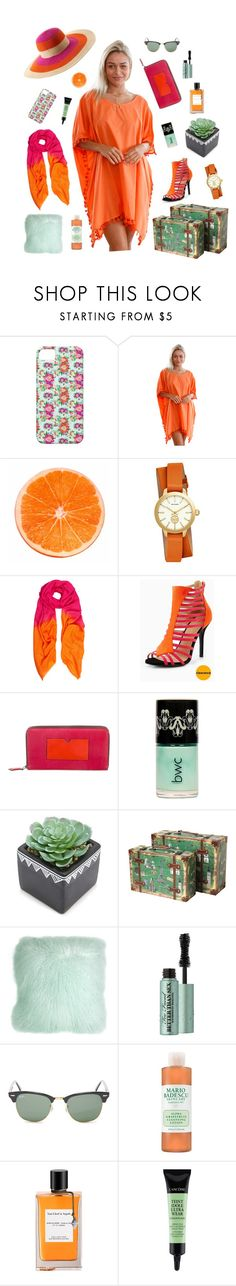 """""""Sunny Days"""" by zenprintz ❤ liked on Polyvore featuring WithChic, Tory Burch, Allegra London, Reed Krakoff, Forever 21, Vintiquewise, Pillow Decor, Too Faced Cosmetics, Ray-Ban and John Lewis"""