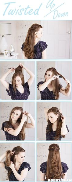 I wish I had my long hair to do this, but at least I can still do it.