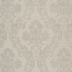 For the walls of a bathroom maybe?    Isora Damask - Platinum - Damasks - Wallcovering - Products - Ralph Lauren Home - RalphLaurenHome.com