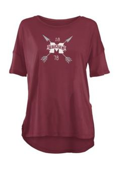 Royce Mississippi State University Arrow Printed Short Sleeve Tee - Maroon - Xl