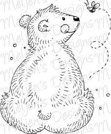 Bear Butt Digi Stamp $3.00