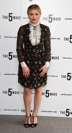 Fabulously Spotted: Chloe Grace Moretz Wearing Erdem - 'The 5th Wave' Photocall - http://www.becauseiamfabulous.com/2016/01/22/fabulously-spotted-chloe-grace-moretz-wearing-erdem-5th-wave-photocall/