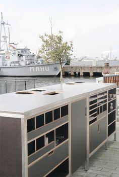 horeca | terraskast RVS, betonplex en berken mutiplex