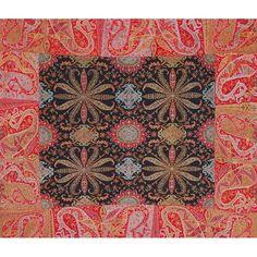 Kashmir Shawl- origin of Paisley Pattern Textile Patterns, Textile Design, Fabric Design, Print Patterns, Kashmiri Shawls, India Colors, Indian Textiles, Indian Embroidery, Vintage Quilts