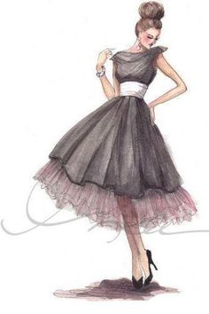 Imagen de dress, girl, and drawing                                                                                                                                                                                 Más