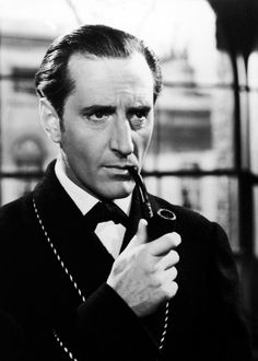 Basil Rathbone (first of Sherlock faces on screen) I love me some Basil