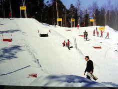 Ski-play in an easy slope. Asbjørn Flemmen - Volda - Norway.