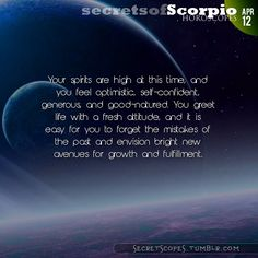 Scorpio Horoscope. Hey Scorpio, follow us for horoscopes every day!
