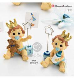 Sujeta Tarjetas Bebé Niño Corona Celeste Teddy Bear, Christmas Ornaments, Toys, Holiday Decor, Animals, Birth, Crowns, Cards, Bebe