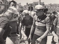 Gino Bartali with Teammates, 1950.