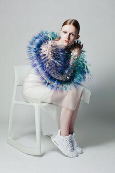 ... fur? porcupine quills? beautiful.