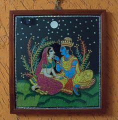 RADHA KRISHNA - Crafts by Prathima Raparti in Prathimas art at touchtalent 73006