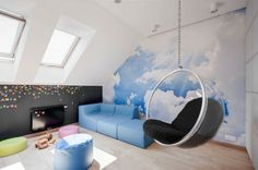 Cool chairs for teenage bedrooms bedroom hanging chair furniture girl be rooms teen seating fascinatin . Awesome Bedrooms, Cool Rooms, Bedroom Themes, Bedroom Decor, Bedroom Ideas, Teen Bedroom, Funky Bedroom, Teenage Bedrooms, Small Bedrooms
