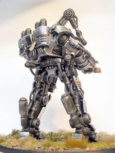 Grey Knights Dreadknight - details for exo suit