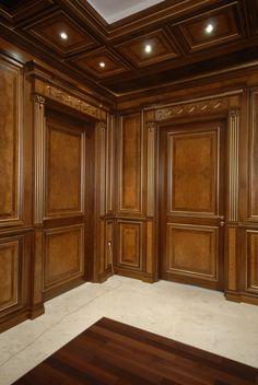 Doors manufactured by Myrt Ukraine. Wood Panel Walls, Wooden Walls, Wooden Doors, Oak Doors, Front Doors, Wooden Wall Cladding, Wooden Panelling, Main Door Design, Wooden Door Design