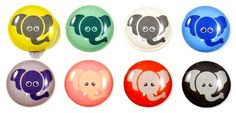 Elephant - 8 Piece iPhone Home Button Stickers for Apple iPhone, iPad, iPad Mini, iTouch on Etsy, $8.95