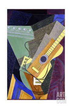 Guitare Sur Une Table, 1916. Juan Gris