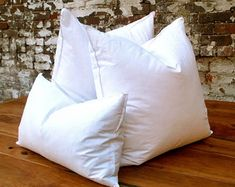 "Goose Down Duck Feather Pillow Insert. Inserts can be ordered exact size to the intended pillow that needs to be filled. If you are looking for a ""more stuffed and fuller look"", then consider ordering the next size up."