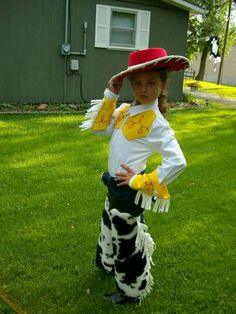 My daughter in her Toy Story Jessie costume I made over 6 years ago.