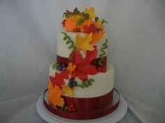 fall Engagement Party Cakes | Fall engagement party cake. By Lexy Spendlove of The Butterfly Cakery.