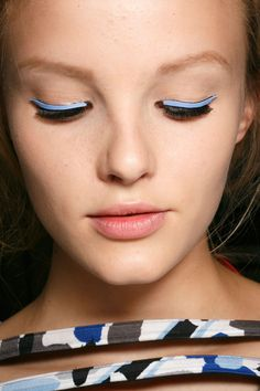 Fendi at Milan Spring 2015 (Backstage). http://votetrends.com/polls/369/share #makeup #beauty #runway #backstage