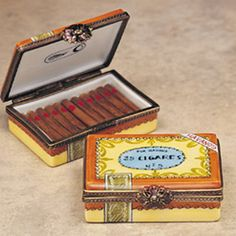 Limoges cigar box...the tiny cigars!
