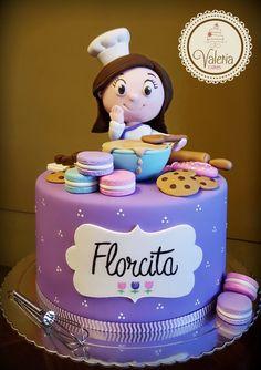 Fondant Cakes, Cupcake Cakes, Chef Cake, Bithday Cake, Baker Cake, Cooking Cake, Baking Party, Gateaux Cake, Crazy Cakes