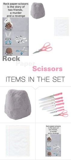"""Rock, Paper, Scissors"" by funtimefoxy1 ❤ liked on Polyvore featuring art"