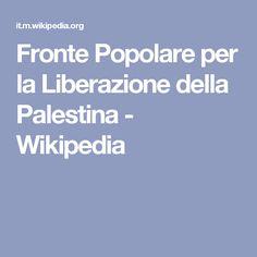 Fronte Popolare per la Liberazione della Palestina - Wikipedia