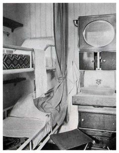 """Third Class Accommodations on Steamships of the United States Lines ... Help save this Iconic ship SS United States The Big """"U"""""""