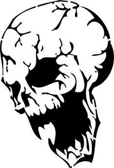 Demonic Skull Stencil by Crafty Stencils Free Stencils, Stencil Templates, Stencil Patterns, Stencil Designs, Skull Stencil, Stencil Art, Skull Art, Halloween Stencils, Pumkin Stencils