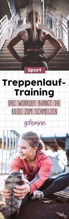 Rein in die Sportklamotten - wir zeigen euch ein super effektives Treppen-Workout. #sport #fitness #workout #fit #gesundheit #gesund #treppenlaufen