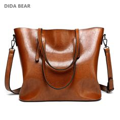 9de742b73532 DIDA BEAR Brand Women Leather Handbags Lady Large Tote Bag Female Pu Shoulder  Bags Bolsas Femininas Sac A Main Brown Black Red