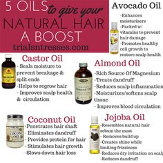 5 Oils To Help Grow Your Natural Hair (Free Printable)