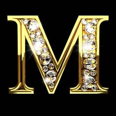 Picture of m isolated golden letters with diamonds on black stock photo, images and stock photography. Flower Phone Wallpaper, Love Wallpaper, Monogram Wallpaper, Alphabet Wallpaper, Letter Photography, Image Photography, Image Ramadan, Stylish Letters, M Letter